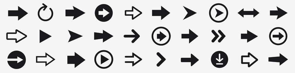 Fototapeta Arrow icons set. Arrow collection. Simple arrow big set. Vector illustration obraz