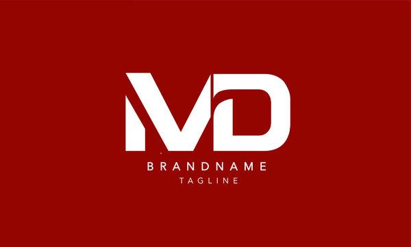 Alphabet letters Initial Monogram logo MD, DM, M and D