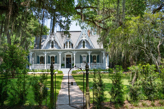 Beautiful Old Southern Home with Mossy Oaks