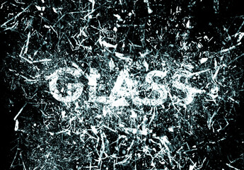 Glass Explosion Text Effect Mockup
