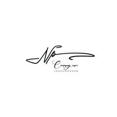 NP initials signature logo. Handwriting logo vector templates. Hand drawn Calligraphy lettering Vector illustration.