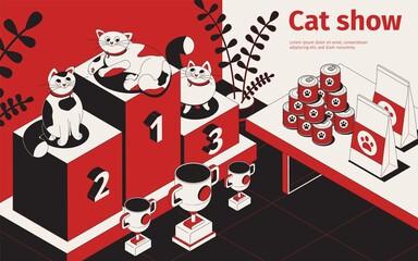 Cat Podium Show Background
