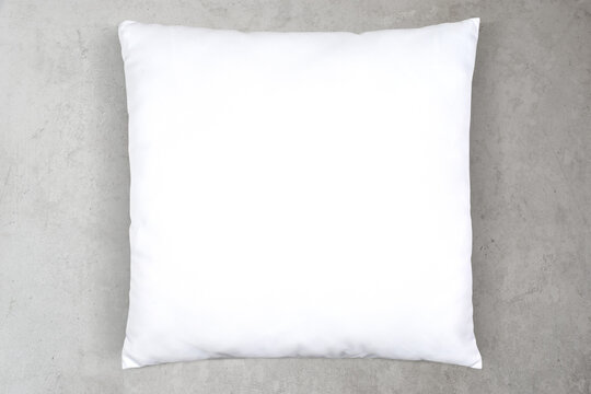 Scandinavian inspired throw pillow mockup on concrete background