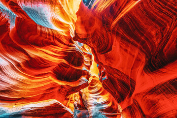 Foto auf Acrylglas Violett rot Antelope Canyon is a slot canyon in the American Southwest.