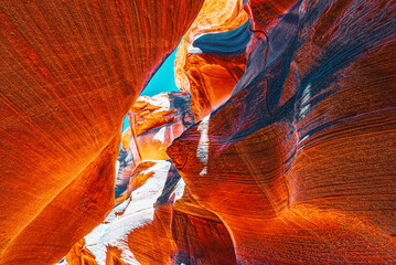 Poster Cuban Red Antelope Canyon is a slot canyon in the American Southwest.