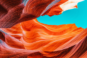 Printed kitchen splashbacks Red Antelope Canyon is a slot canyon in the American Southwest.