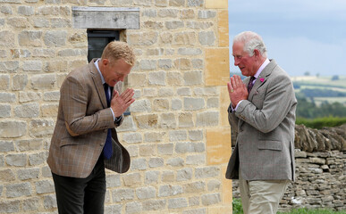 Britain's Prince Charles Cotswold Farm Park