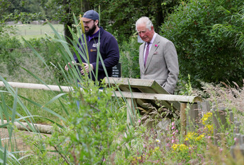 Britain's Prince Charles visits Cotswold Farm Park
