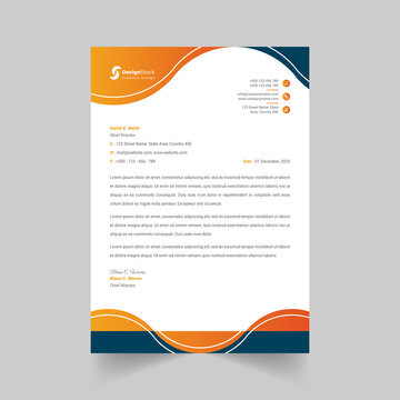 Creative and Clean Letterhead template design business for your project in minimalist style,Stationery Design, Vector illustration.