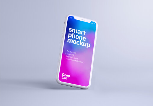 Clay Smartphone Mockup for Application Ui Designs