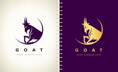 goat animal logo vector design
