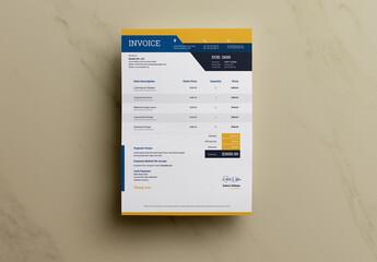 Invoice Layout with Orange Layout