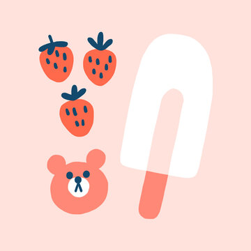 Strawberries and Popsicle