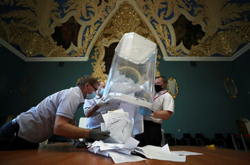 Nationwide vote on constitutional reforms, in Moscow