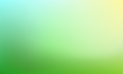 Abstract nature blurred background. Green gradient backdrop. Ecology concept for your graphic design, banner or poster. Vector illustration
