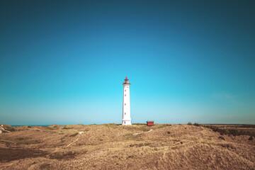 Leuchtturm Lyngvig Fyr in der Nähe von Hvide Sande in Dänemark