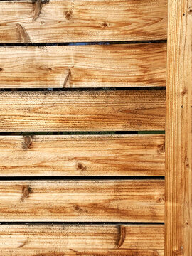 Closeup wood wall or fence and beautiful wood grain