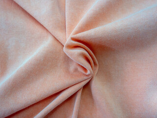 Textile fabric polyester and cotton fabric - wrinkled