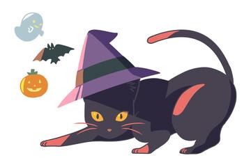 黒猫と三角帽子(線無し)