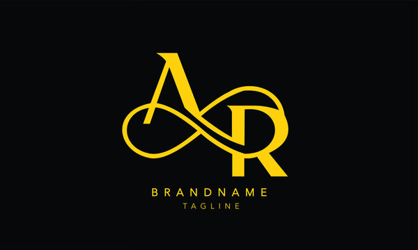 Alphabet letters Initials Monogram logo AR, RA, RA with Infinity