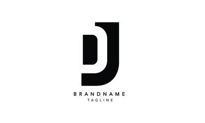 Alphabet letters Initials Monogram logo DJ, JD, D and J