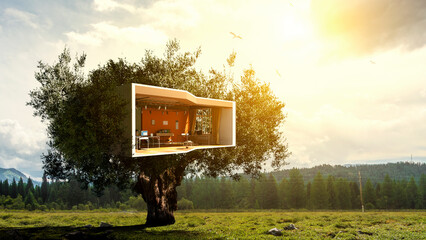 Fototapeta Real estate and ecology concept obraz