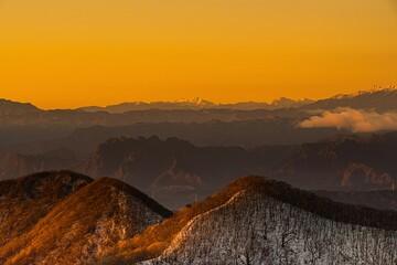 榛名山山頂からの初日の出