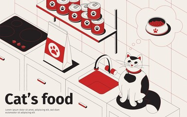 Cats Food Kitchen Background