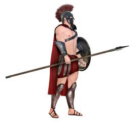 Spartanischer Krieger aus dem antiken Griechenland, Freisteller