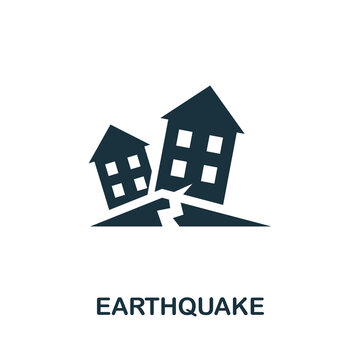 Earthquake icon. Simple element from natural disaster collection. Creative Earthquake icon for web design, templates, infographics and more