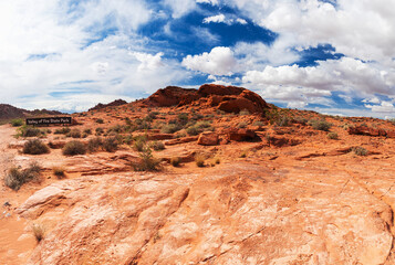 Red rock in Valley of Fire State park in Nevada in the USA