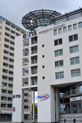 Chemnitz, Germany 10-06-2019 building with logo of  Eins ernergie in sachsen - engl. One energy in saxony