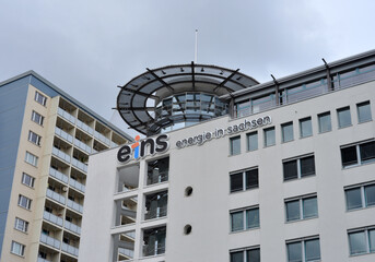 Chemnitz, Germany 10-06-2019 building of the company Eins ernergie in sachsen - engl. one . energy in saxony
