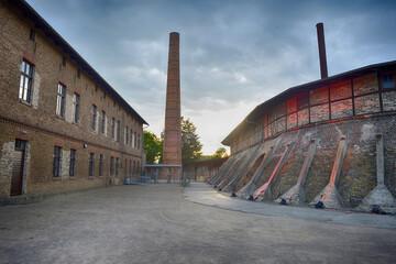 Mildenberg, Brandenburg, Germany industrial museum and buildings of the former brickworks factory