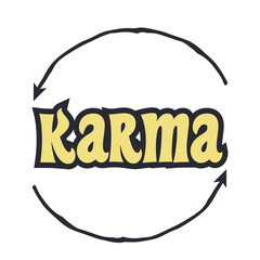 Keuken foto achterwand Retro sign karma will fix it