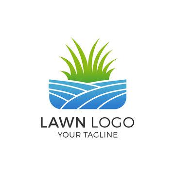Lawn Logo Design Vector Illustration