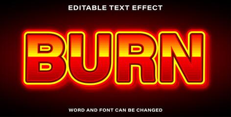 Wall Mural - Editable text effect burn