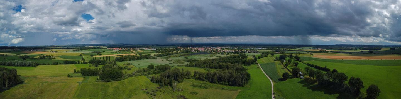 Regengüsse hinter Altshausen, Oberschwaben