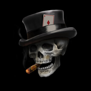 skull in the hat