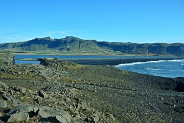 Iceland-view of amazing Dyrholaey peninsula nature reserve