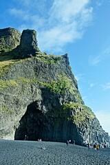 Iceland-view of Reynisfjara Beach near village Vik