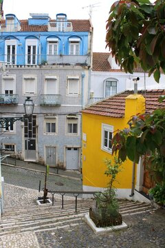 street in the old town of Lisbon