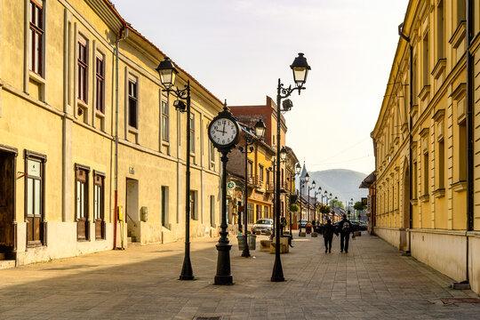 BAIA MARE, ROMANIA - JUNE 2, 2017: Architecture of Baia Mare,  the capital of Maramures County