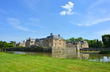 La Ferte Saint Aubin, France, Castle view, park and green sourroundings