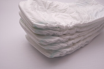 A Stack of Disposable Diapers