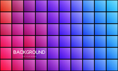 Abstract colorful geometric background, Creative design templates. Pixel art, grid, mosaic vector illustration.