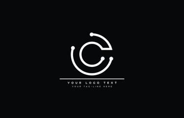 CC C logo design tech concept with background. Initial based creative minimal monogram icon letter. Modern luxury alphabet vector design