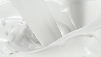 Splash of milk, macro shot