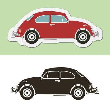 Famous vintage german beetle car
