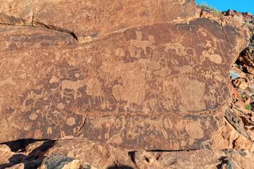 Rock engravings at Twyfelfontein in Damaraland